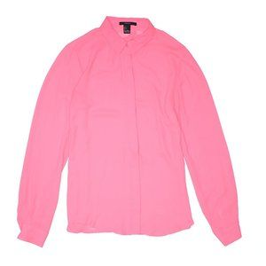 Forever 21 Hot Pink Button Up Top S